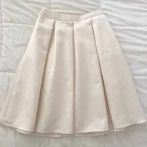 Express A-Line Skirt in Off-White with Pockets!